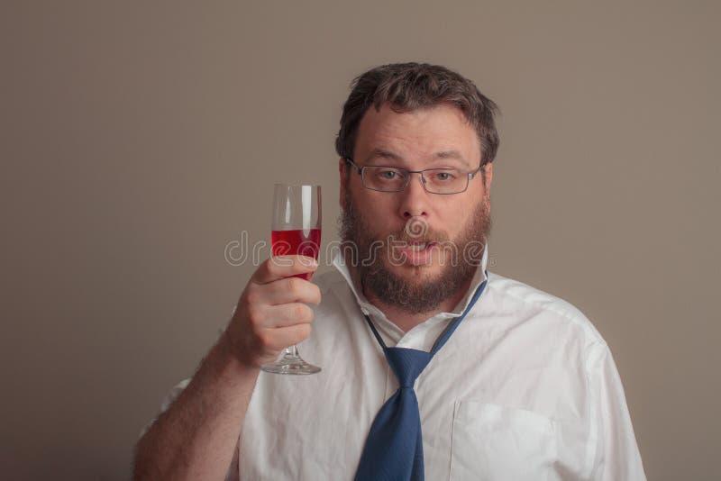 Dronken kerel van de het werkpartij stock foto