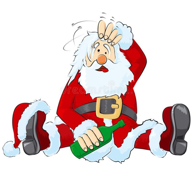 Dronken Kerstman royalty-vrije illustratie