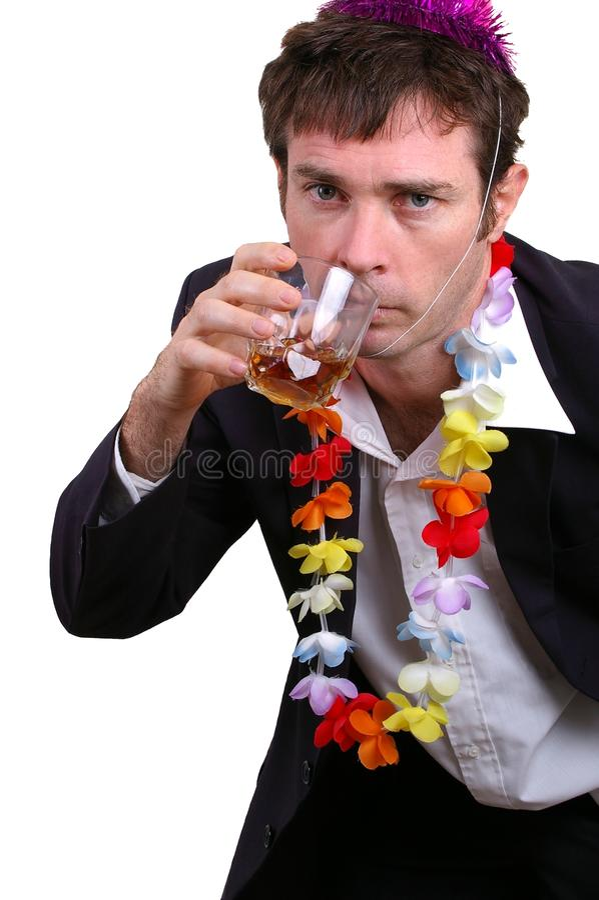 Dronken mens royalty-vrije stock foto's