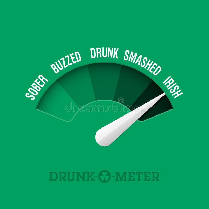 Dronken-o-meter stock illustratie