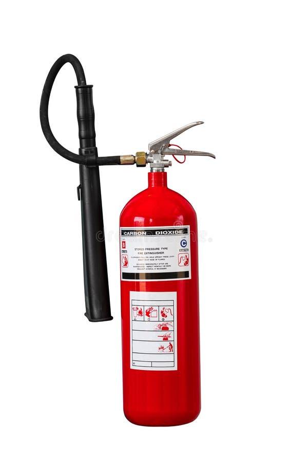Droog chemisch brandblusapparaat op witte achtergrond royalty-vrije stock fotografie