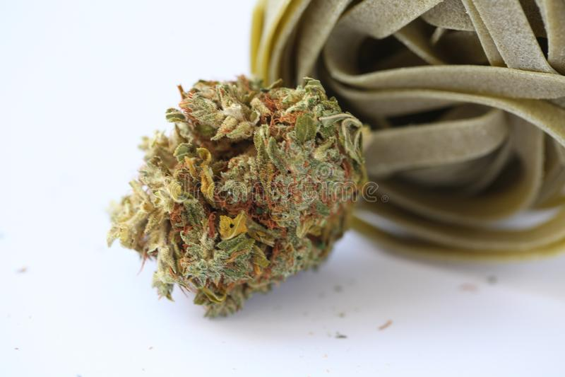 Droog de Koekjesvoedsel van de Cannabis Medisch Marihuana stock fotografie