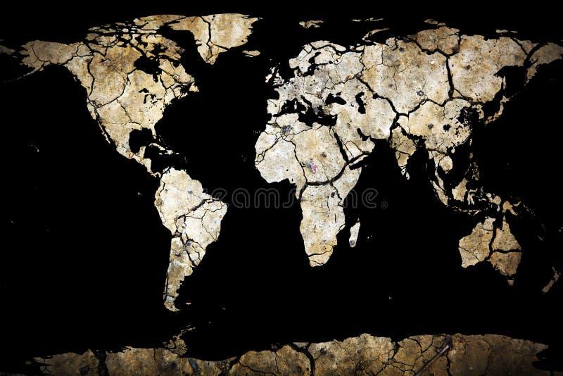 Droog Gebarsten Aarde stock afbeelding