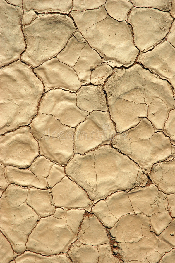 Droog gebarsten grond, uitputting royalty-vrije stock afbeelding