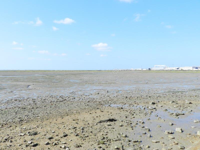 Droog strand in Cadiz royalty-vrije stock fotografie