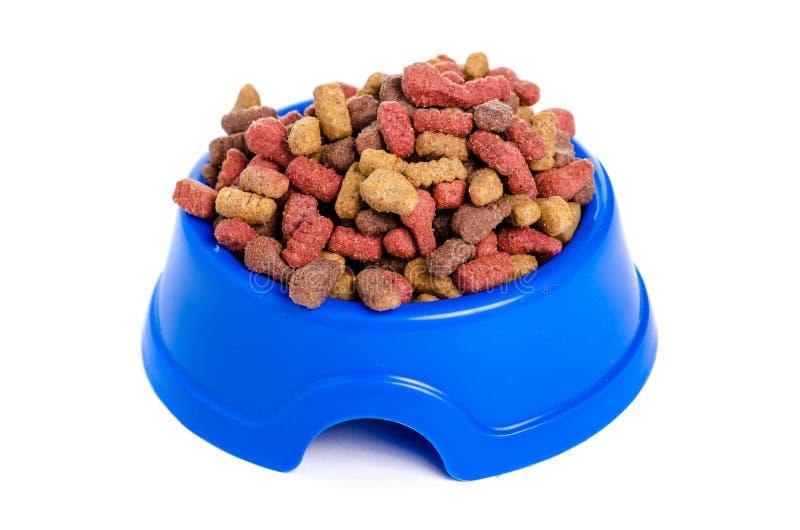 Droog voedsel in een kom voor honden en katten royalty-vrije stock fotografie