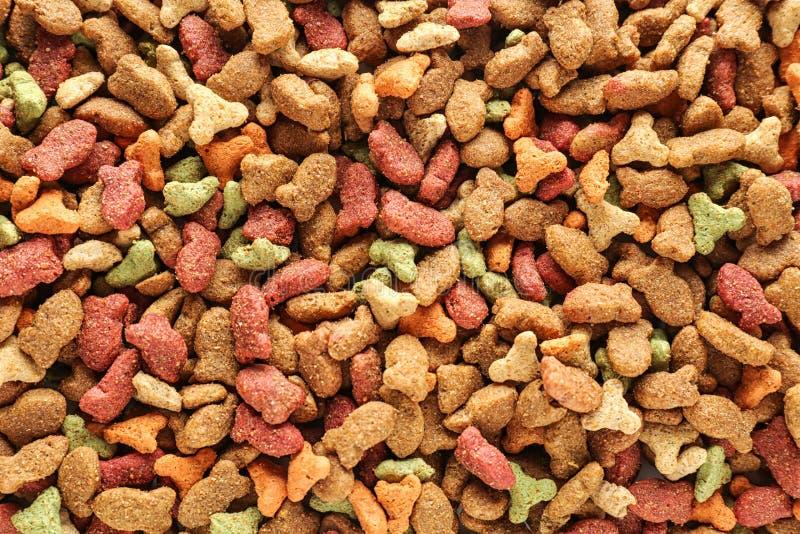 Droog voedsel voor huisdieren, hoogste mening stock foto