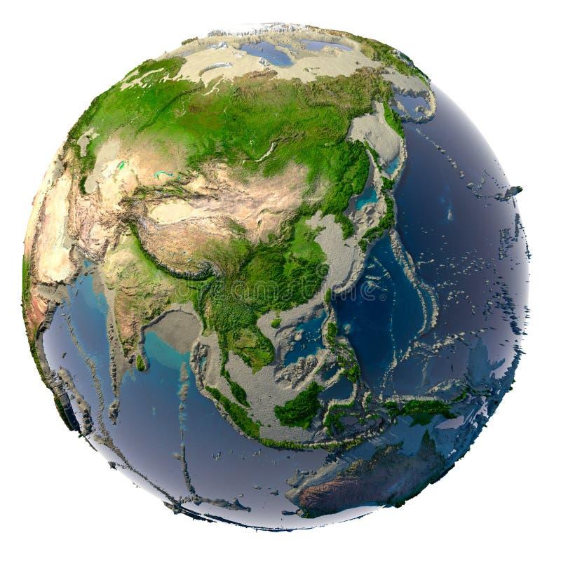 Droogte op de aarde stock illustratie