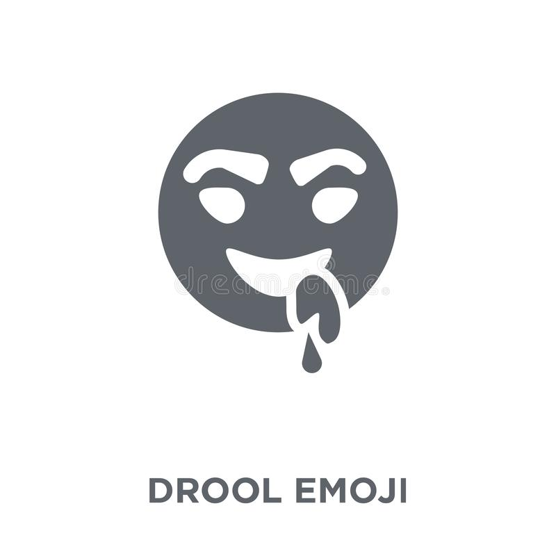 Drool emoji icon from Emoji collection. Drool emoji icon. Drool emoji design concept from Emoji collection. Simple element vector illustration on white stock illustration