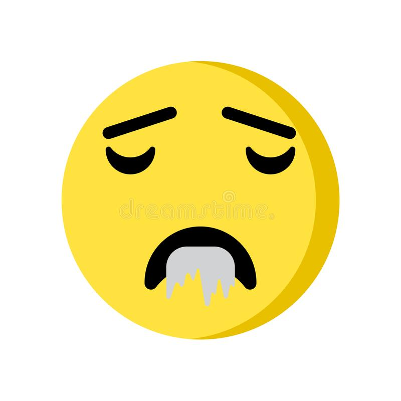Drool emoji icon isolated on white background. For your web and mobile app design royalty free illustration