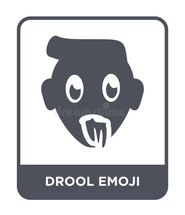 Drool emoji icon in trendy design style. drool emoji icon isolated on white background. drool emoji vector icon simple and modern. Flat symbol for web site royalty free illustration