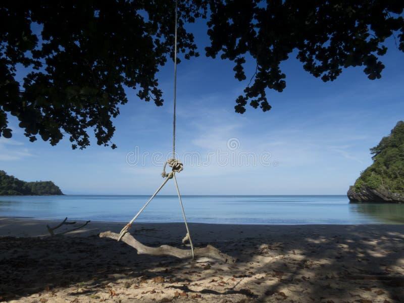 Droom geheim strand bij het Nationale Park van Tarutao, Thailand royalty-vrije stock foto's