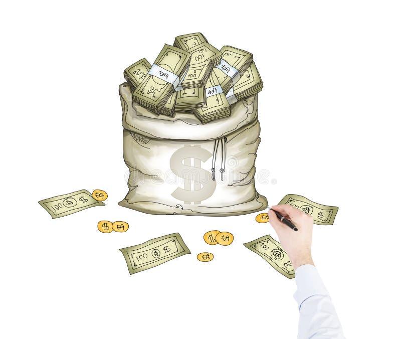 Droom over geld vector illustratie