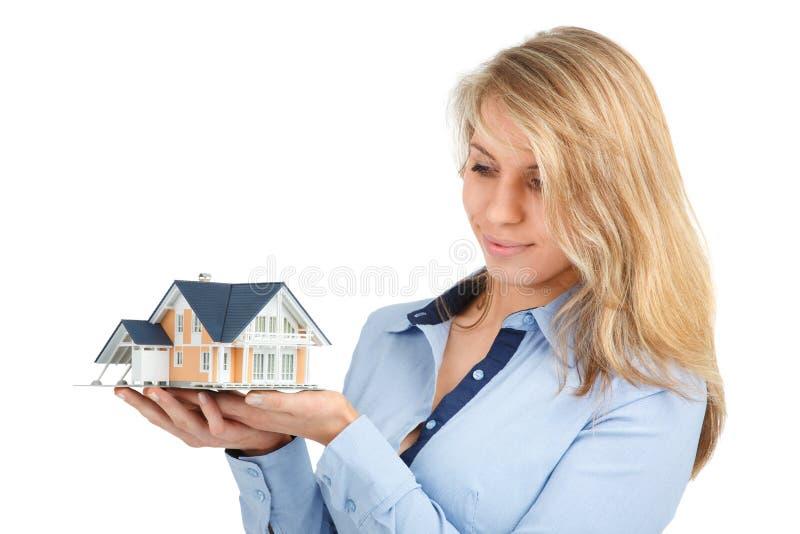 Droom over huis stock foto's