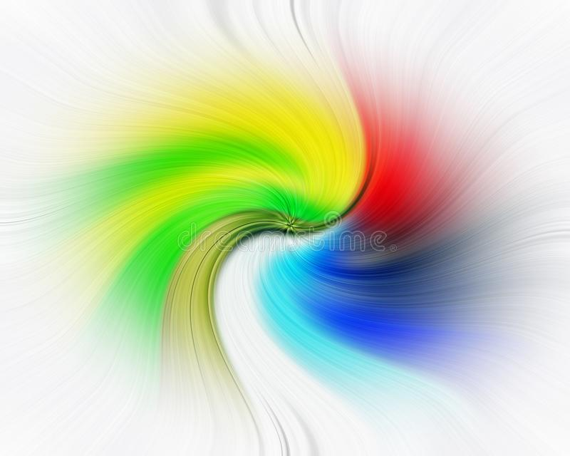 Droom van de de regenboogduizeligheid van achtergrondwervelings de wervelende kleuren royalty-vrije stock fotografie