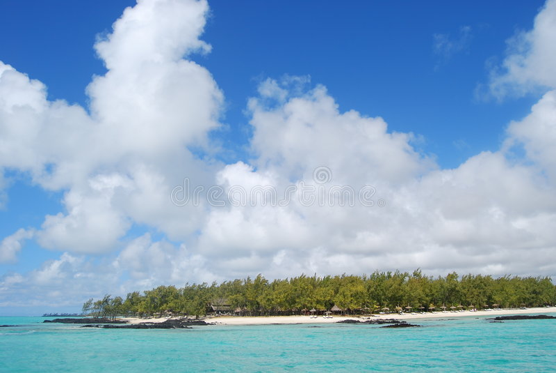 Droom van? Mauritius stock foto
