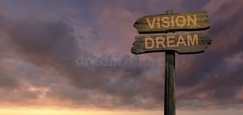 Droom - visie royalty-vrije illustratie