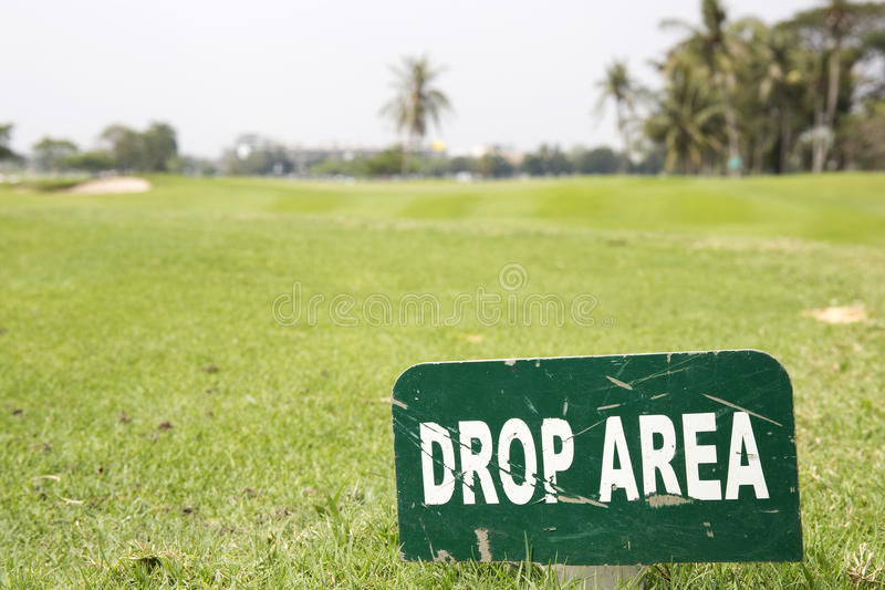 Drop Area sign stock photography