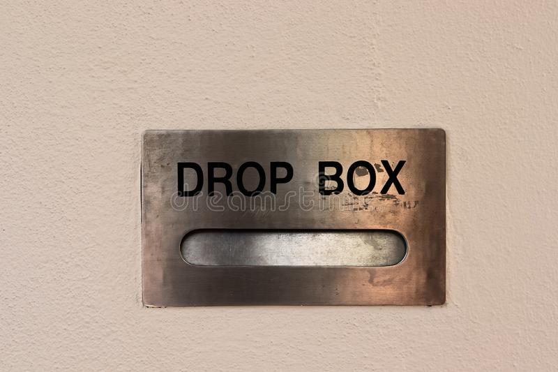 Drop Box In A Wall royalty free stock image
