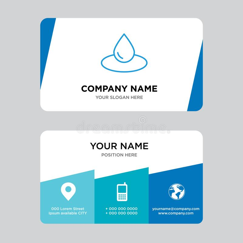 drop business card design template visiting for your company