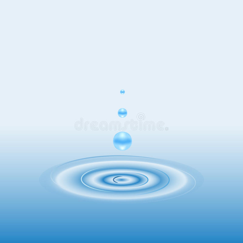 Drop and Circle Ripples on the Water vector illustration