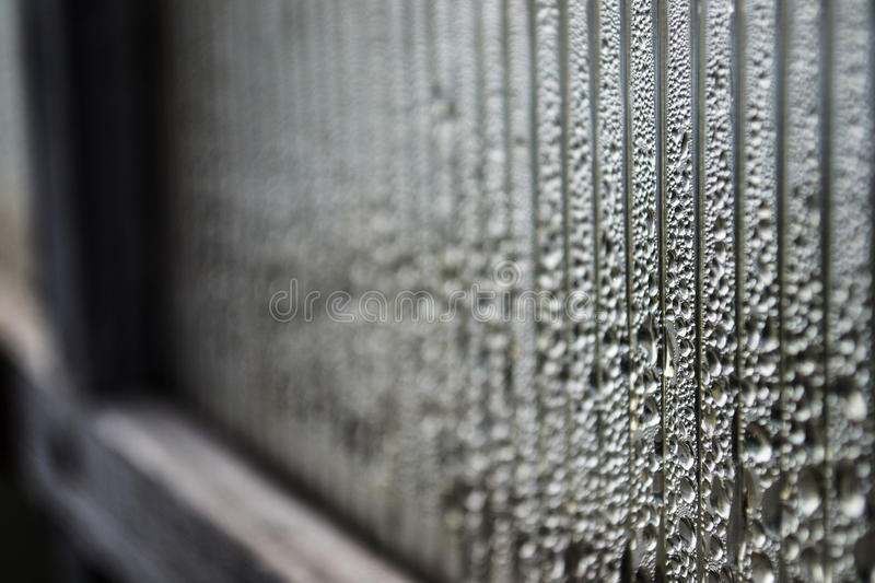 Drop of close on a plastic wrap royalty free stock image