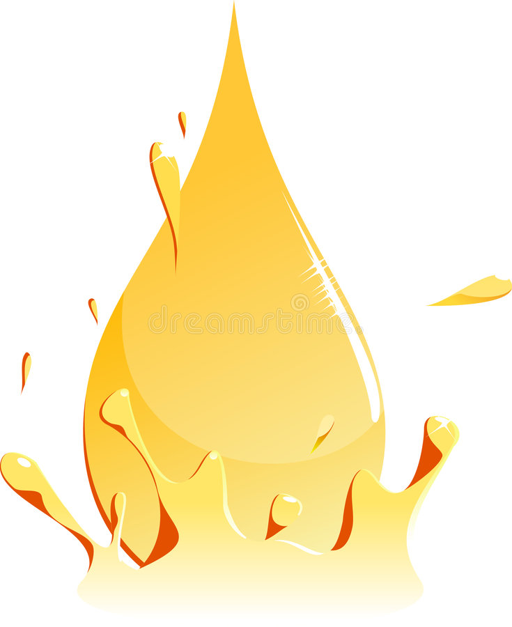 Download Drop of Gasoline stock vector. Illustration of drop, splashing - 6276396