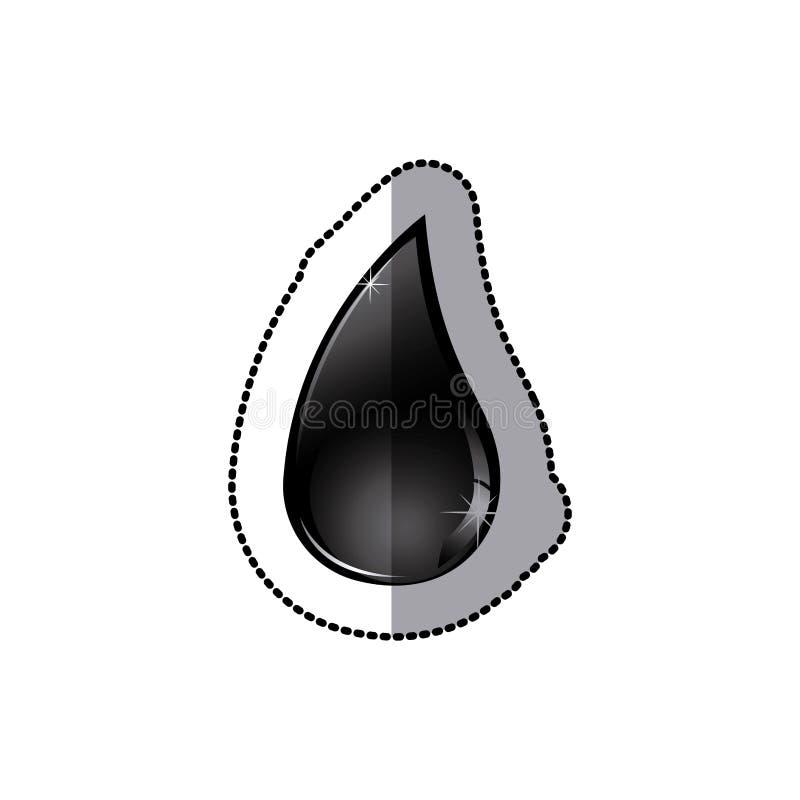 drop gasoline icon stock royalty free illustration