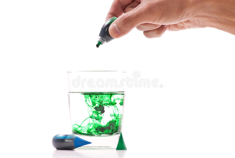 Drop of Green stock photos