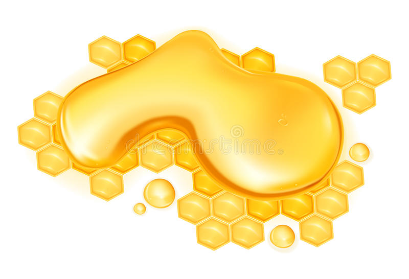 Drop of honey royalty free illustration