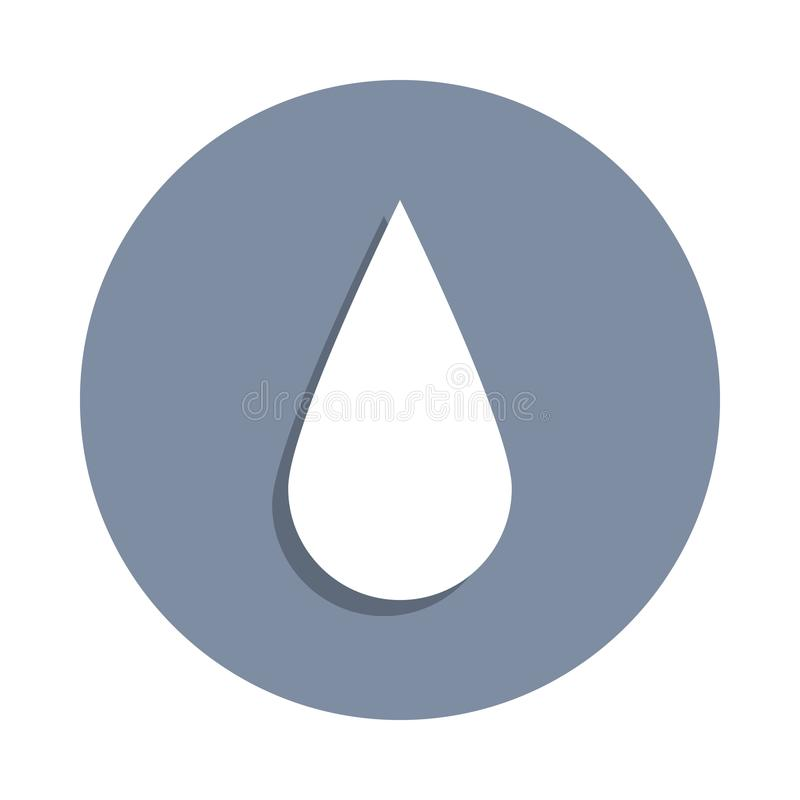 a drop icon in badge style. One of web collection icon can be used for UI, UX vector illustration