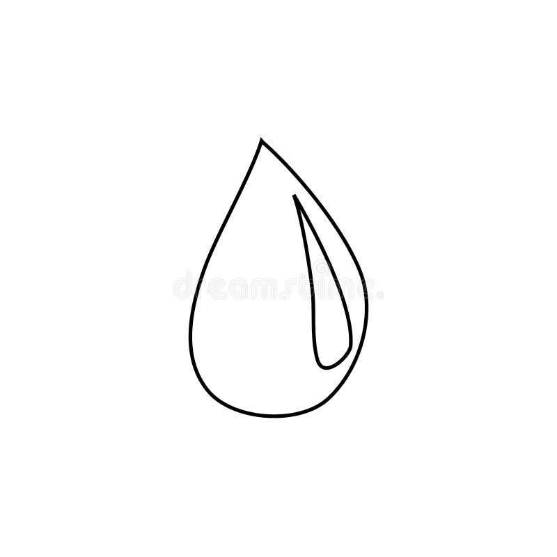 Drop icon. Isolated design symbol royalty free illustration