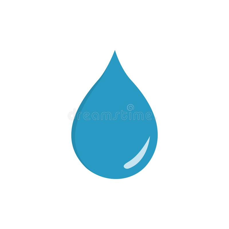 Drop icon isolated on transparent background. Vector illustration. Eps 10 royalty free illustration