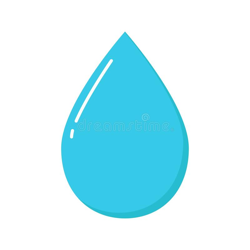 Drop icon isolated on transparent background. Vector illustration. Eps 10 vector illustration
