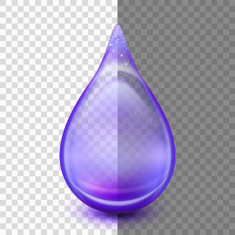 Drop isolated on transparent background. EPS 10 vector stock illustration