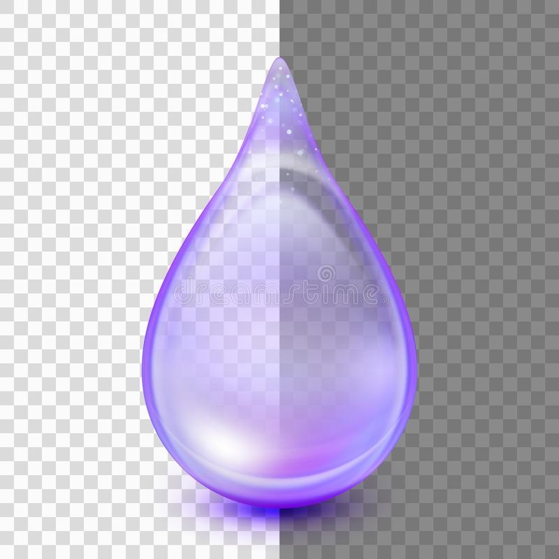 Drop isolated on transparent background. EPS 10 vector royalty free illustration