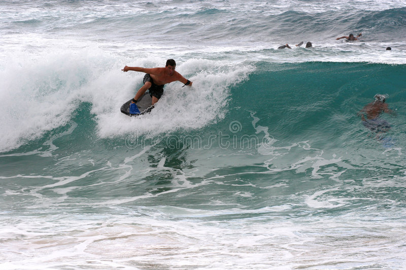 Download Drop Knee Body Boarder stock image. Image of surf, sports - 9157371