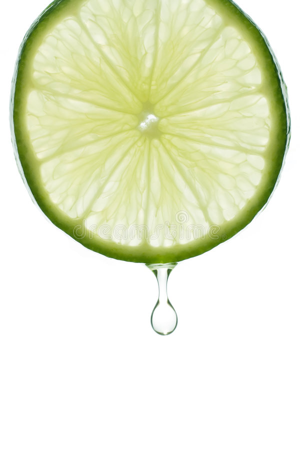 Drop of Lime Juice royalty free stock image