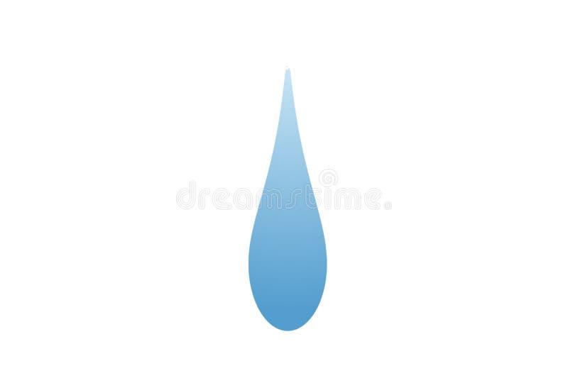 Drop logo illustration design. Water icon. Wet, liquid, drink, blue, falling, shape, food, symbol, single, element, flat, concept, new, simple, company, emblem royalty free stock photo