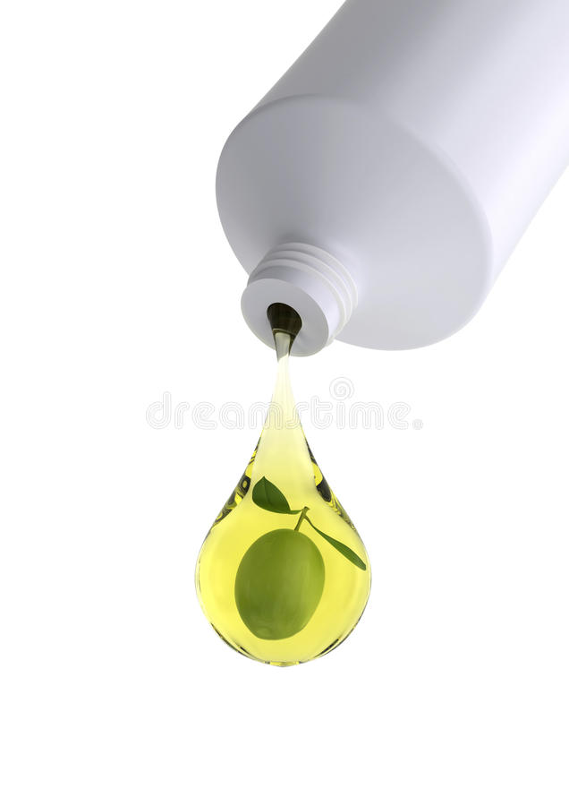 Download Drop of olive cosmetics stock illustration. Image of olive - 9565276