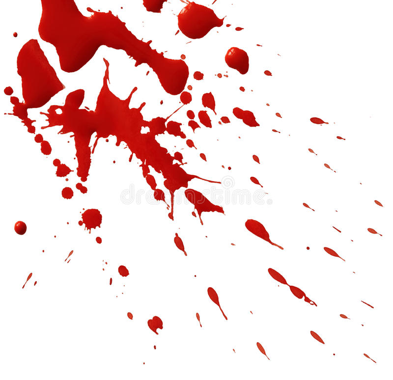 Drop of red blood stock illustration