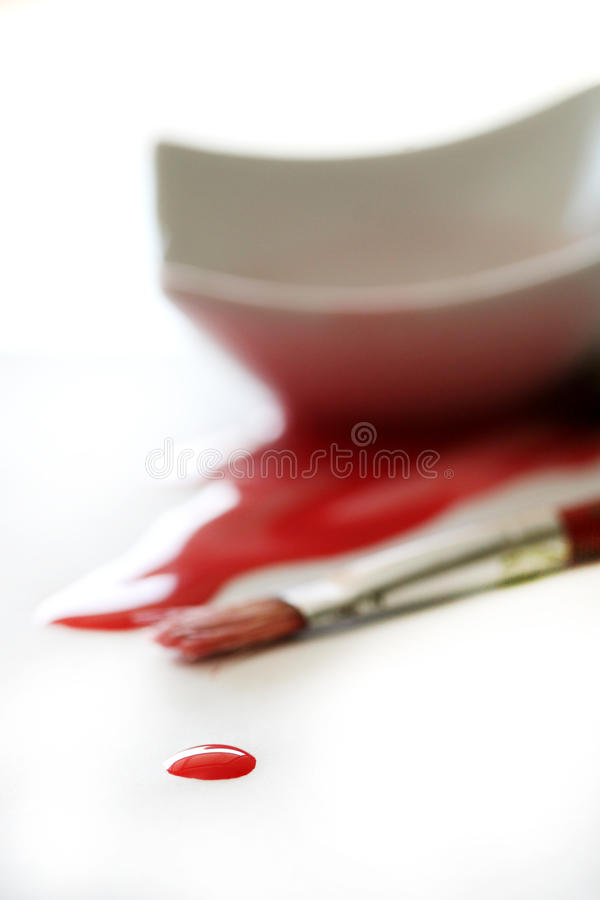 Drop of red paint royalty free stock image