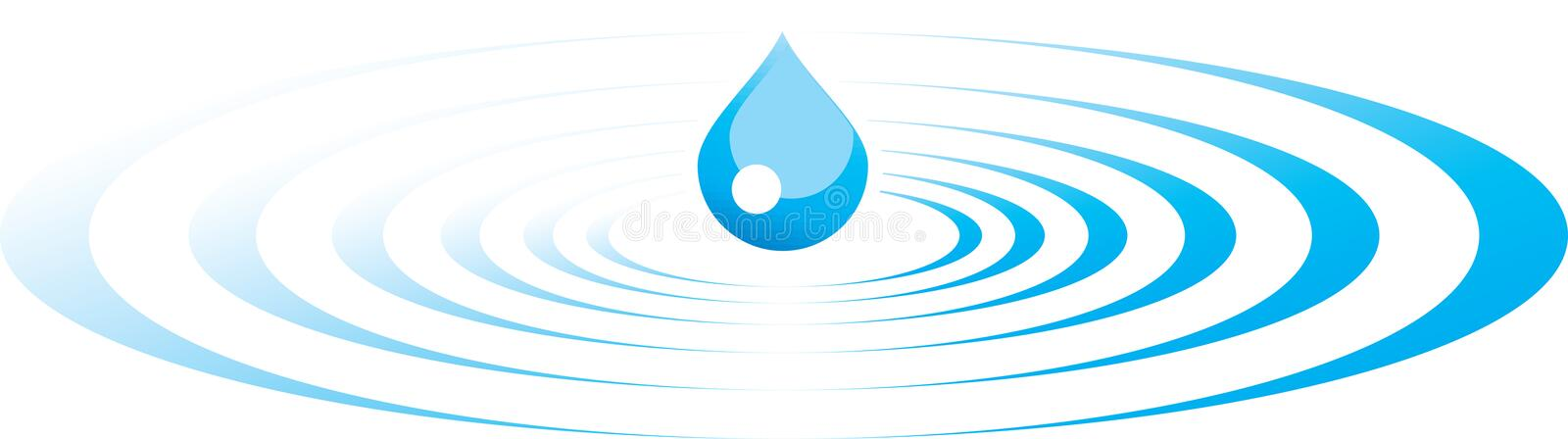 Drop and ripples royalty free illustration