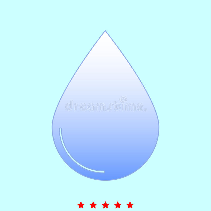 Drop set it is color icon . stock illustration