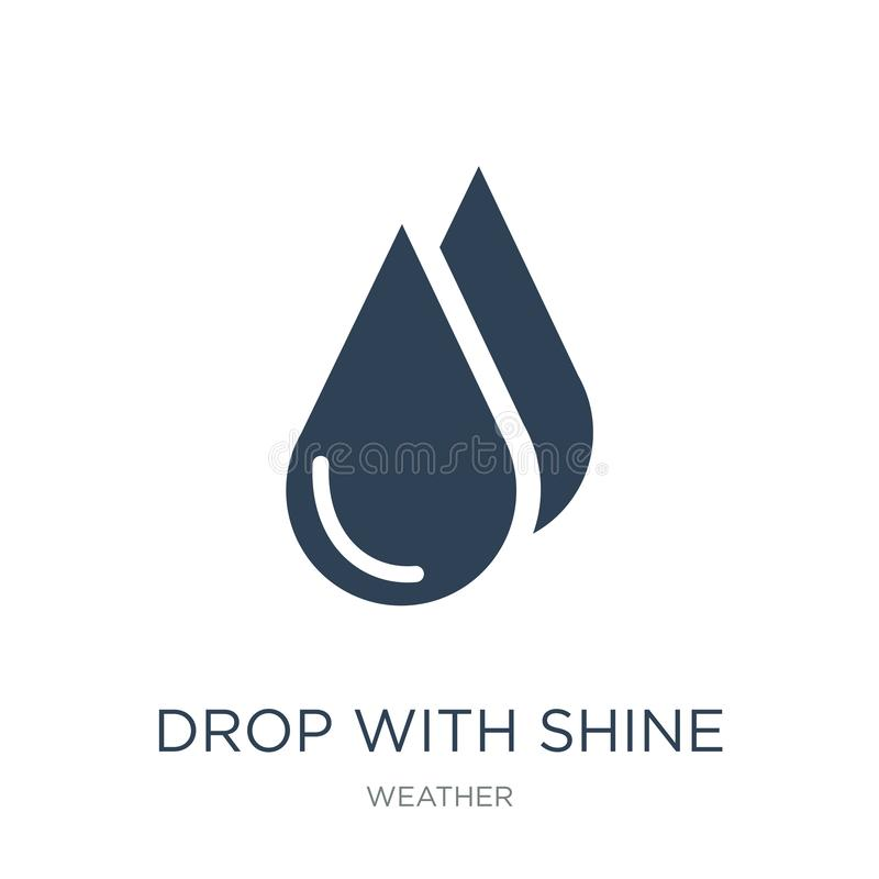 drop with shine icon in trendy design style. drop with shine icon isolated on white background. drop with shine vector icon simple stock illustration