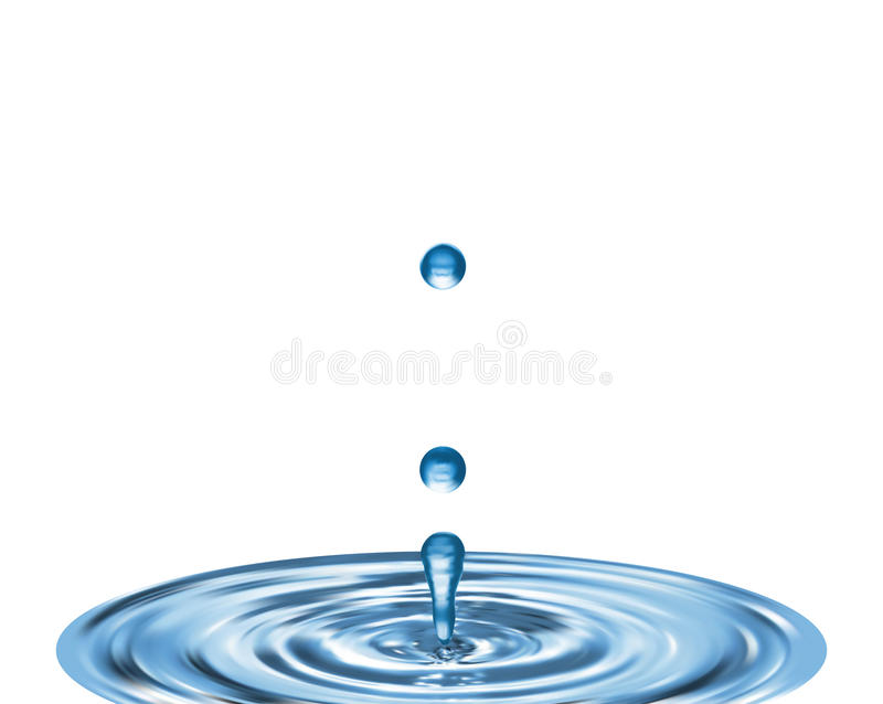 Drop of water royalty free illustration