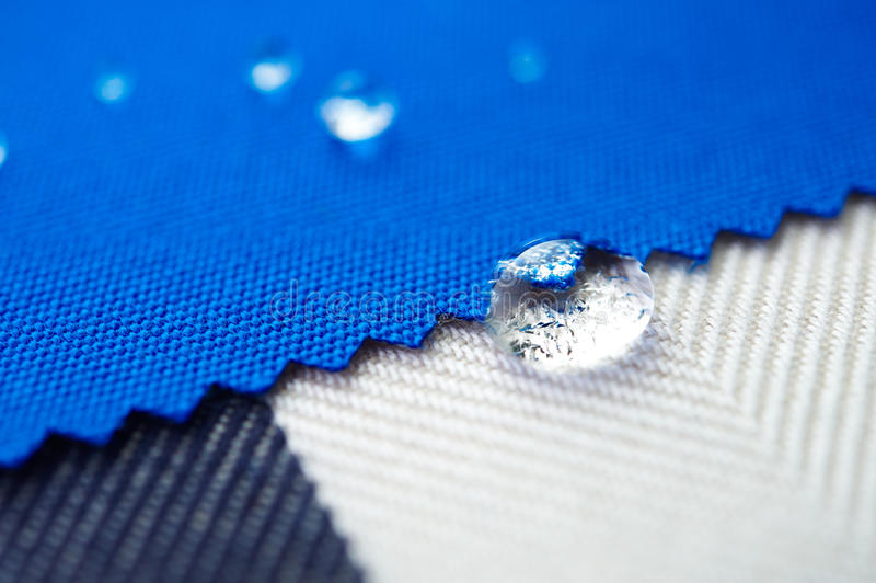 Drop water on canvas fabric royalty free stock photos