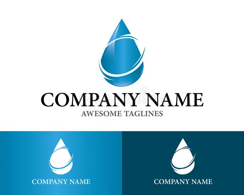 Drop Water Logo Design Template Flat Style Design. Vector Illustration. Nature Drop Water Logo Design vector illustration