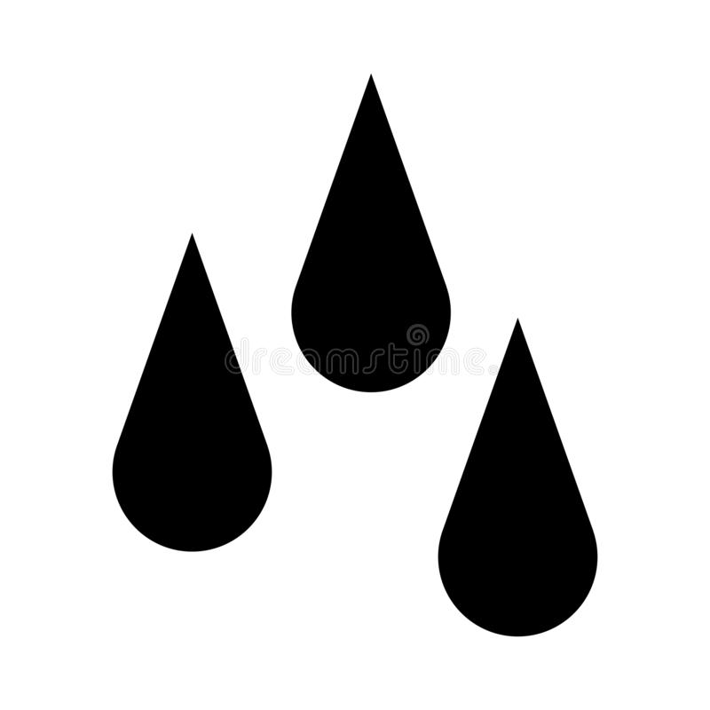 Drop Water, Splash Water Icon Vector. oil blood Logo Template royalty free illustration