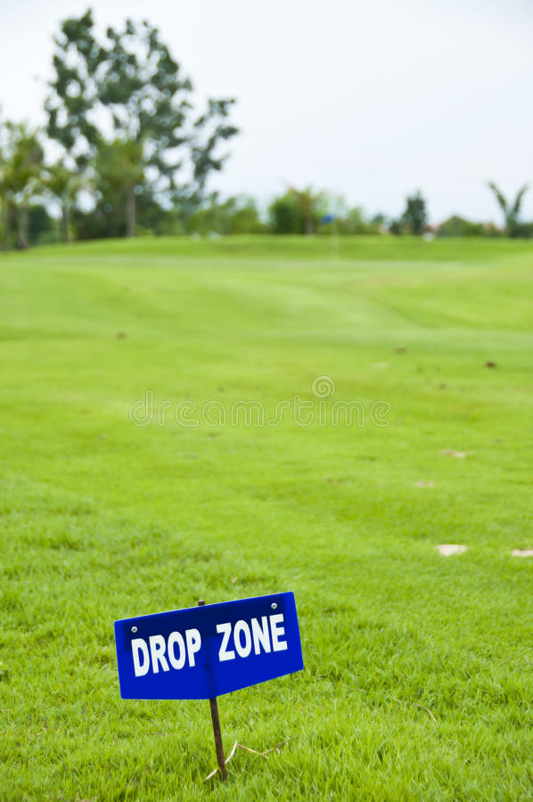 Drop zone. stock photography
